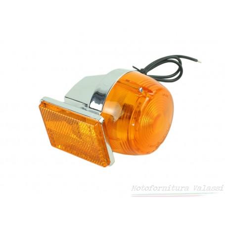 """Indicatore direzione """"CEV"""" anteriore cromato/arancio V35/50 Custom / 1000G5 08.507 - 23760680 Frecce / Indicatori di direzion..."""
