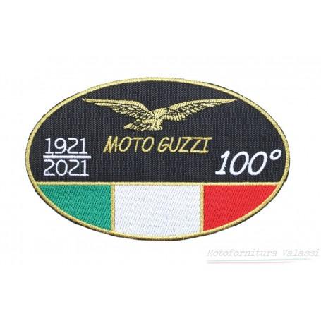 """Toppa ovale media termoadesiva Centenario """"Moto Guzzi"""" 60.018 Centenario """"MOTO GUZZI""""12,00€ 12,00€"""