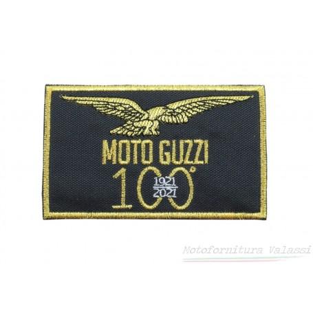 """Toppa rettangolare nera termoadesiva centenario """"Moto Guzzi"""" 60.055 Centenario """"MOTO GUZZI""""7,00€ 7,00€"""