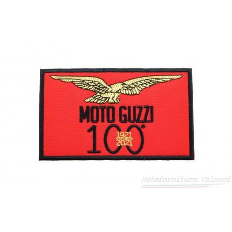 """Toppa rettangolare rossa termoadesiva centenario """"Moto Guzzi"""" 60.056 Centenario """"MOTO GUZZI""""7,00€ 7,00€"""
