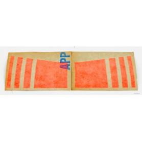 Coppia decalcomanie arancio per cupolino V50 Monza 70.400 Decalcomanie cupolino - codino - fregi cassette8,00€ 8,00€