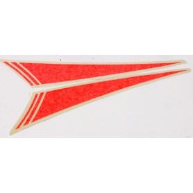Coppia decalcomanie arancio per cupolino LM IV -1000 / V65 Lario 70.404 Decalcomanie cupolino - codino - fregi cassette12,00...