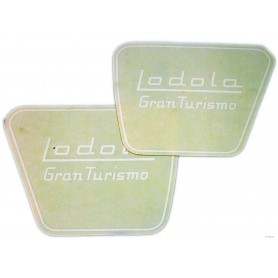 """Coppia scritta """"Lodola Gran Turismo"""" 70.502 Decalcomanie scritte coperchi laterali13,00€ 13,00€"""