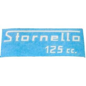"""Scritta """"Stornello 125cc"""" turismo 70.504 Decalcomanie scritte coperchi laterali6,30€ 6,30€"""