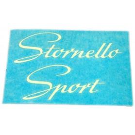 """Scritta \\""""Stornello Sport\\"""" 4 marce 70.505 Decalcomanie scritte coperchi laterali6,30€ 6,30€"""