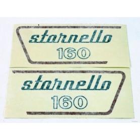 """Coppia scritte \\""""Stornello 160\\"""" 5 marce 70.507 - 52917800 - 52917900 Decalcomanie scritte coperchi laterali13,30€ 13,30€"""