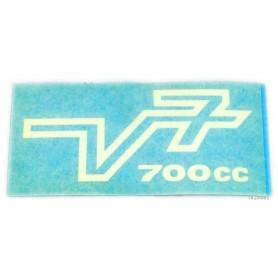 """Scritta """"V7 700cc"""" 70.508 Decalcomanie scritte coperchi laterali4,00€ 4,00€"""