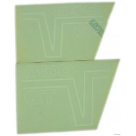 """Coppia scritte """"850 GT"""" bianco - nere 70.516 - 13917961 - 13917861 Decalcomanie scritte coperchi laterali13,00€ 13,00€"""