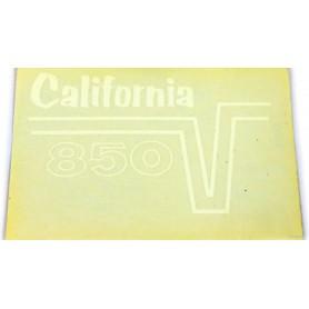 """Scritta """"850 GT California"""" bianco - nero 70.517 - 13917845 Decalcomanie scritte coperchi laterali5,50€ 5,50€"""
