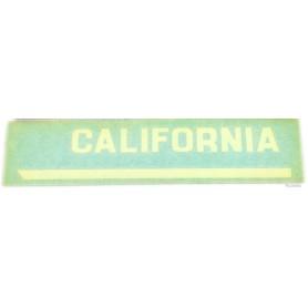 """Scritta """"California"""" per T3 bianco - nero 70.518 - 70.519 Decalcomanie scritte coperchi laterali4,00€ 4,00€"""