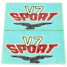 """Coppia scritte \\""""V7 Sport\\"""" 70.514 - 14917802 - 14917902 Decalcomanie scritte coperchi laterali14,50€ 14,50€"""