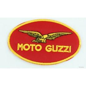 """Toppa ovale \\""""Moto Guzzi\\"""" ovale rosso/oro - 10cm x 6cm 60.001 Toppe stoffa6,00€ 6,00€"""